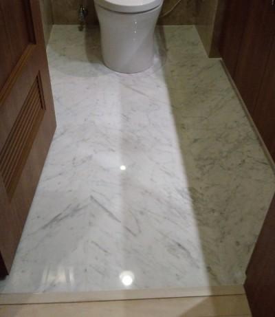 トイレ 大理石の床