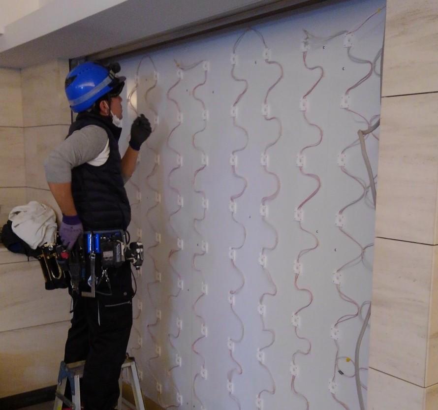 光壁LED施工