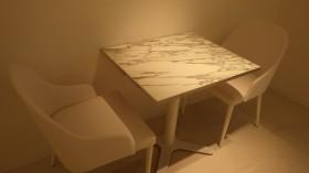 大理石カフェテーブル