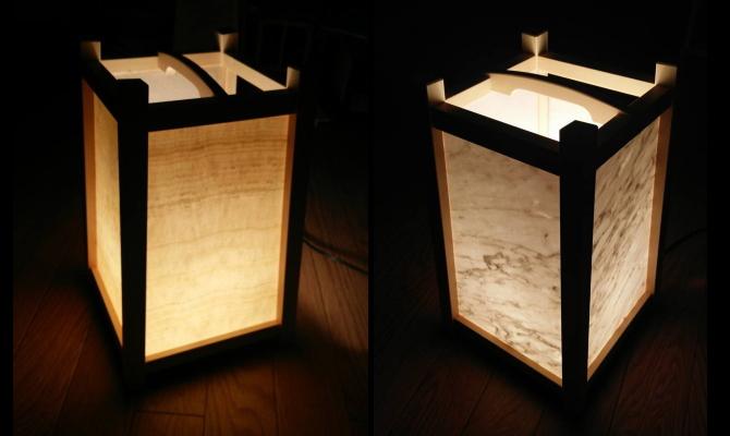 大理石の行燈