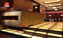 天然石装飾パネルの床