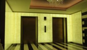 ホテル内装 オニキス光壁