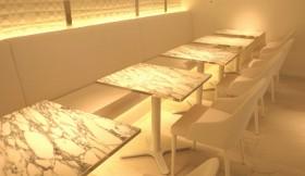 カフェテーブル 大理石天板